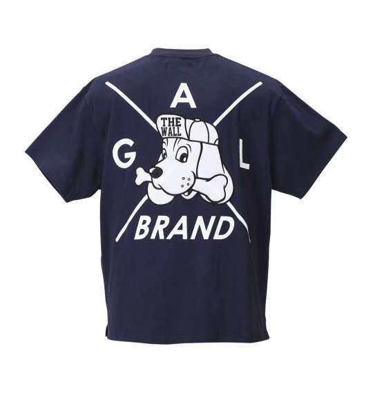 大きいサイズ メンズ GALFY アップリケ 刺繍 半袖 Tシャツ 半袖Tシャツ ネイビー 1158-8541-1 3L 4L 5L 6L