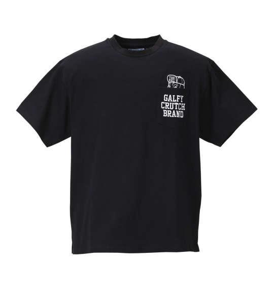 大きいサイズ メンズ GALFY アップリケ 刺繍 半袖 Tシャツ 半袖Tシャツ ブラック 1158-8541-2 3L 4L 5L 6L