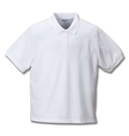 大きいサイズ メンズ Mc.S.P 消臭テープ付 鹿の子 半袖 ポロシャツ ホワイト 1158-8561-1 3L 4L 5L 6L 8L 10L
