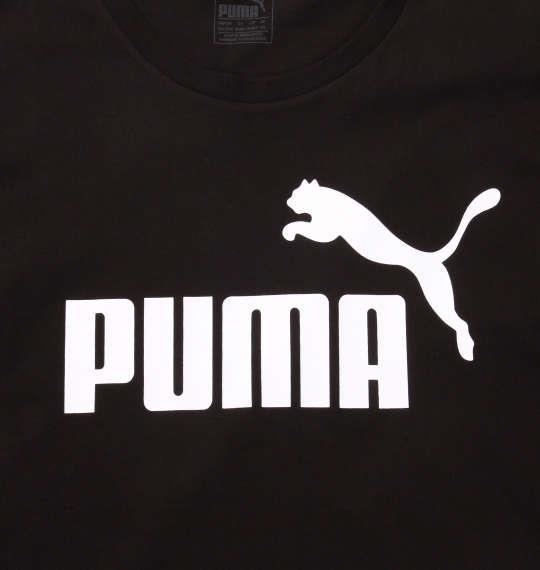 大きいサイズ メンズ PUMA エッセンシャルNO.1ロゴ半袖Tシャツ コットンブラック 1178-8200-2 2XL 3XL 4XL 5XL