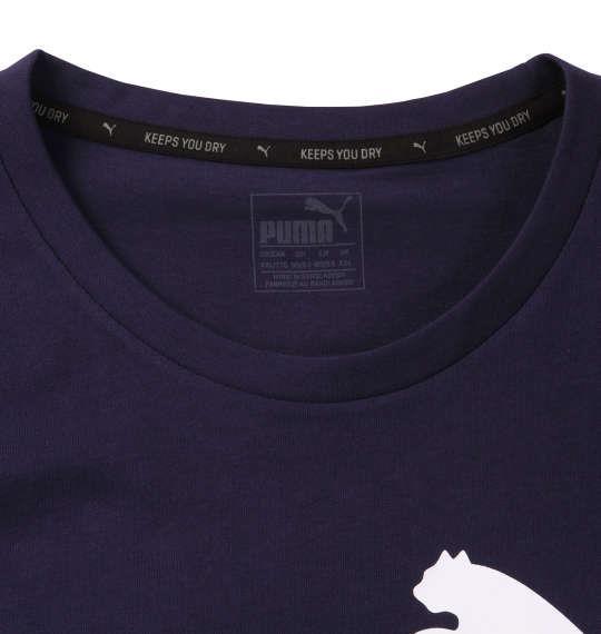 大きいサイズ メンズ PUMA エッセンシャルNO.1ロゴ半袖Tシャツ ピーコート 1178-8200-3 2XL 3XL 4XL 5XL