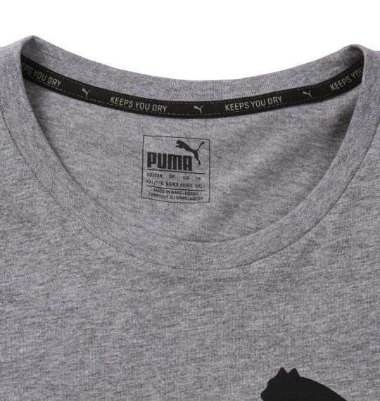 大きいサイズ メンズ PUMA エッセンシャルNO.1ロゴ半袖Tシャツ ミディアムグレーヘザー 1178-8200-4 2XL 3XL 4XL 5XL