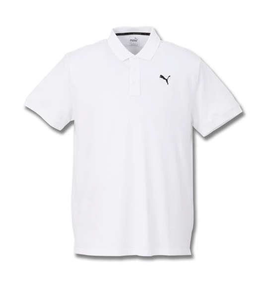 大きいサイズ メンズ PUMA エッセンシャル半袖ポロシャツ プーマホワイト 1178-8201-1 2XL 3XL 4XL 5XL