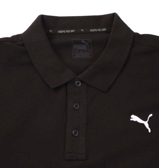 大きいサイズ メンズ PUMA エッセンシャル半袖ポロシャツ コットンブラック 1178-8201-2 2XL 3XL 4XL 5XL