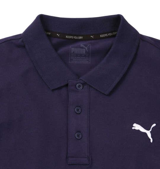 大きいサイズ メンズ PUMA エッセンシャル半袖ポロシャツ ピーコート 1178-8201-3 2XL 3XL 4XL 5XL