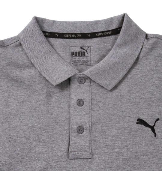 大きいサイズ メンズ PUMA エッセンシャル半袖ポロシャツ ミディアムグレーヘザー 1178-8201-4 2XL 3XL 4XL 5XL
