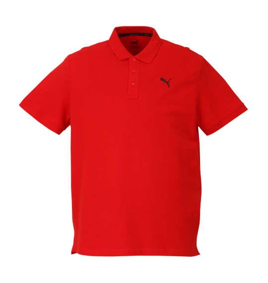 大きいサイズ メンズ PUMA エッセンシャル半袖ポロシャツ プーマレッド 1178-8201-5 2XL 3XL 4XL 5XL