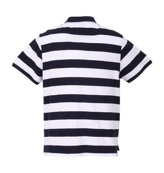 大きいサイズ メンズ PUMA エッセンシャルストライプ半袖ポロシャツ ピーコート × ホワイト 1178-8202-1 2XL 3XL 4XL 5XL