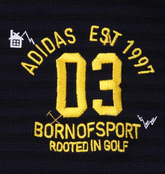 大きいサイズ メンズ adidas golf マウンテンモノグラム半袖B.Dシャツ ネイビー 1178-8221-2 4XO 5XO 6XO 7XO