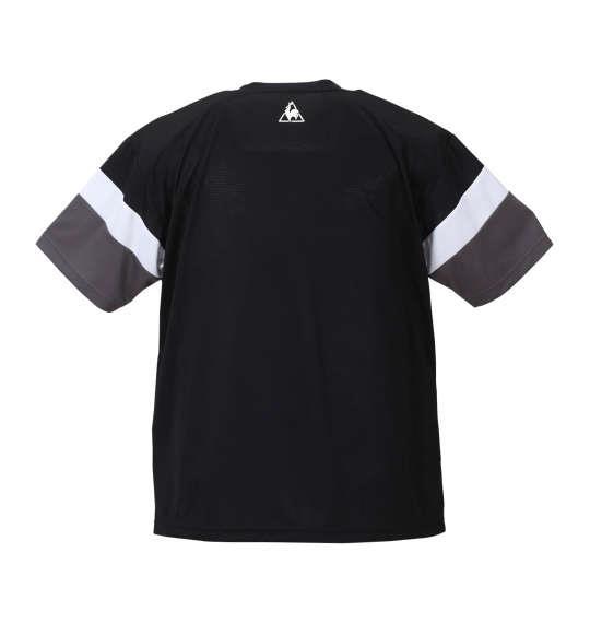 大きいサイズ メンズ LE COQ SPORTIF サンスクリーン半袖Tシャツ ブラック 1178-8231-2 3L 4L 5L 6L
