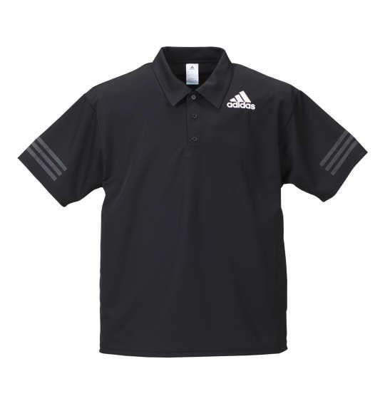 大きいサイズ メンズ adidas 半袖ポロシャツ ブラック 1178-8242-2 3XO 4XO 5XO 6XO 7XO 8XO