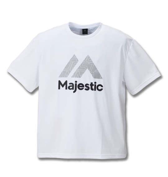 大きいサイズ メンズ Majestic 半袖Tシャツ ホワイト 1178-8271-1 3L 4L 5L 6L