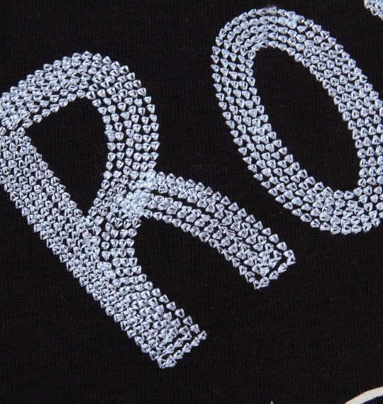 大きいサイズ メンズ LOONEY TUNES チェーン刺繍&プリント半袖Tシャツ ブラック 1178-8525-2 3L 4L 5L 6L 8L