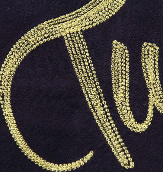 大きいサイズ メンズ LOONEY TUNES チェーン刺繍&プリント半袖Tシャツ ネイビー 1178-8526-1 3L 4L 5L 6L 8L