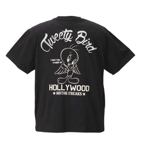 大きいサイズ メンズ LOONEY TUNES チェーン刺繍&プリント半袖Tシャツ ブラック 1178-8526-2 3L 4L 5L 6L 8L
