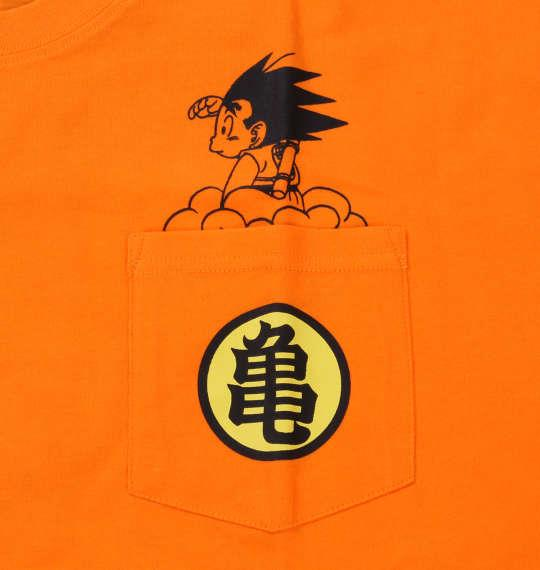 大きいサイズ メンズ DRAGONBALL 悟空ポケット付半袖Tシャツ オレンジ 1178-8561-1 3L 4L 5L 6L 8L