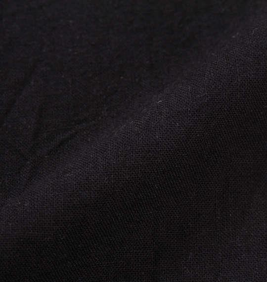 大きいサイズ メンズ OUTDOOR PRODUCTS 異素材使い 綿麻 半袖 シャツ 半袖シャツ ブラック 1157-8250-2 3L 4L 5L 6L 8L