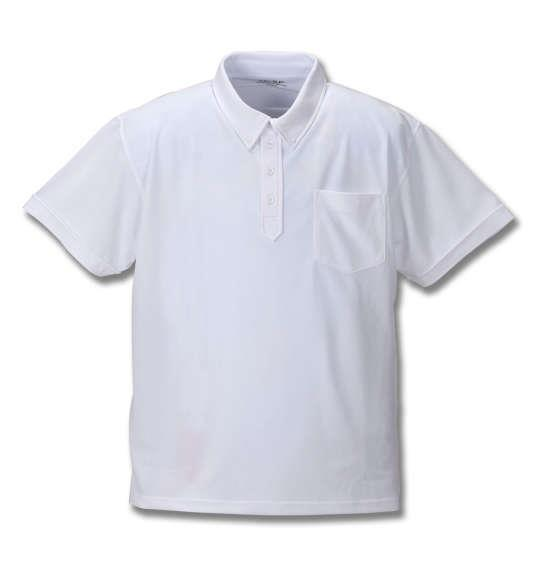 大きいサイズ メンズ Mc.S.P DRY ハニカム メッシュ ボタンダウン 半袖 ポロシャツ ホワイト 1158-8560-1 3L 4L 5L 6L 8L 10L