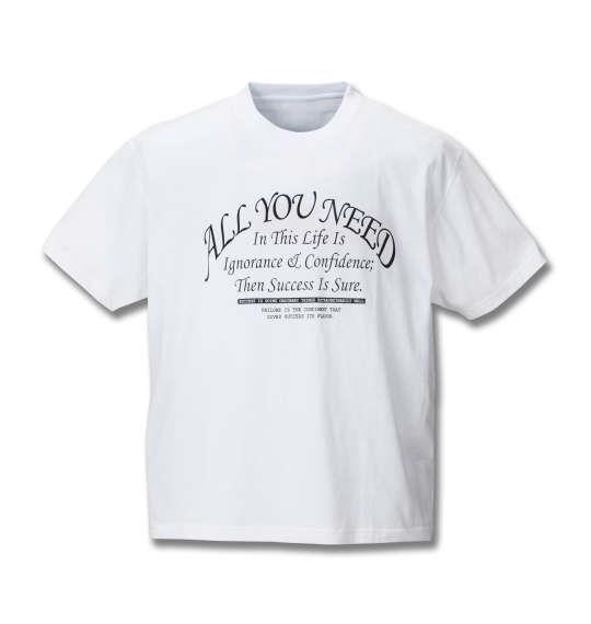 大きいサイズ メンズ RIMASTER インクボーダー ノースリーブ パーカー + 半袖Tシャツ セット モクグレー × ホワイト 1158-8246-2 3L 4L 5L 6L 8L