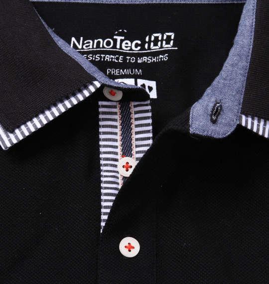 大きいサイズ メンズ Timely Warning 鹿の子 はと目 半袖 ポロシャツ ブラック 1158-8550-2 3L 4L 5L 6L