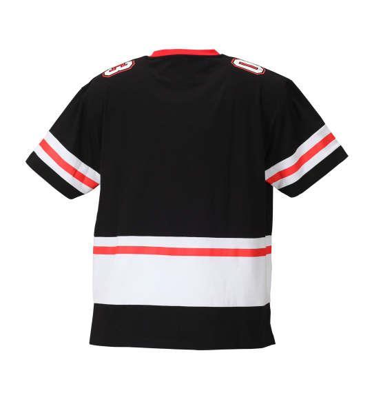 大きいサイズ メンズ Majestic フットボール半袖Tシャツ ブラック 1178-8530-2 3L 4L 5L 6L