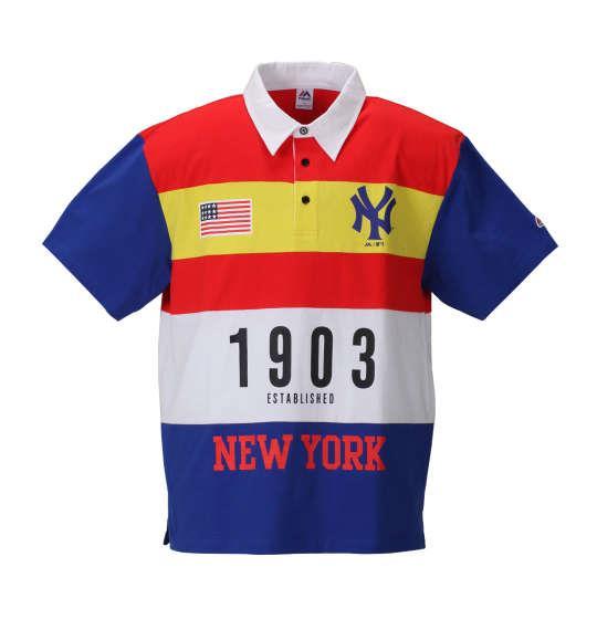 大きいサイズ メンズ Majestic NY1903半袖ポロシャツ ブルー 1178-8531-1 3L 4L 5L 6L