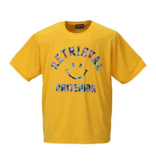 大きいサイズ メンズ SMILEY FACE DRY メッシュ 半袖 Tシャツ 半袖Tシャツ イエロー 1158-8220-1 3L 4L 5L 6L