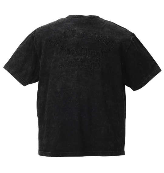 大きいサイズ メンズ in the attic 総柄 ポケット パウダー加工 半袖 Vネック Tシャツ 半袖Tシャツ ブラック 1158-8530-2 3L 4L 5L 6L