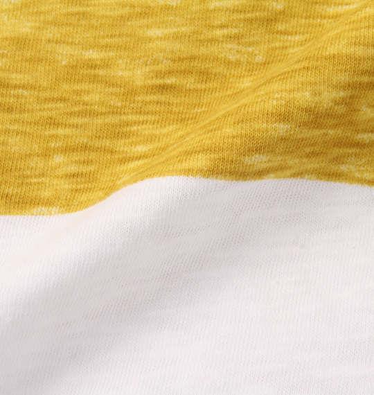 大きいサイズ メンズ Timely Warning スラブ 天竺 3段 切替 半袖 ポロシャツ マスタード 1158-8552-2 3L 4L 5L 6L