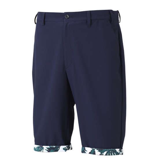 大きいサイズ メンズ adidas golf ジャガードハーフパンツ ボトムス ズボン パンツ 短パン ネイビー 1174-8201-2 100 105 110 115 120 130