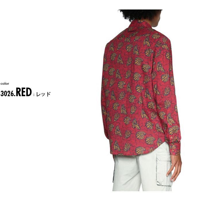 大きいサイズ メンズ DESIGUAL (デシグアル) 長袖総柄プリントシャツ 18smcw43