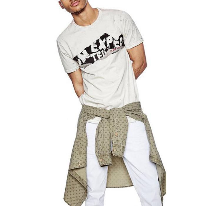 大きいサイズ メンズ DESIGUAL (デシグアル) 半袖プリントTシャツ 18smtk18
