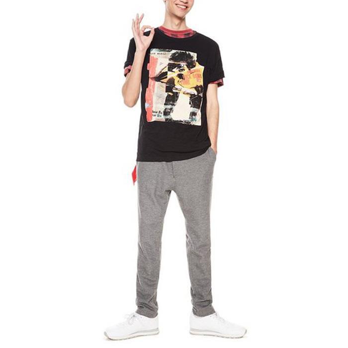 大きいサイズ メンズ DESIGUAL (デシグアル) 半袖プリントTシャツ 18smtk19