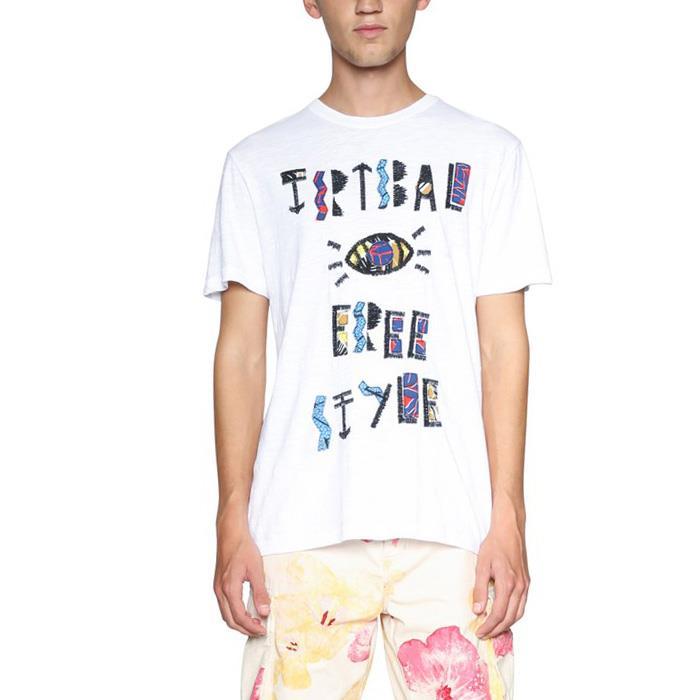 大きいサイズ メンズ DESIGUAL (デシグアル) 半袖プリントTシャツ 18smtk36