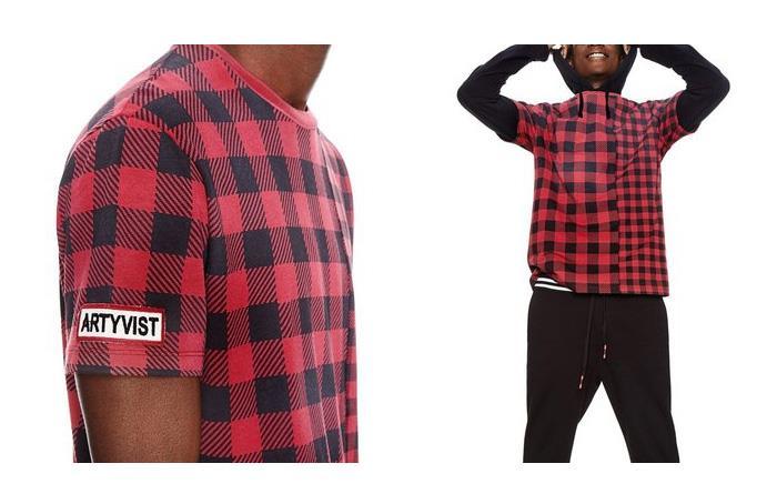 大きいサイズ メンズ DESIGUAL (デシグアル) 切り替え半袖プリントTシャツ 18smtk40