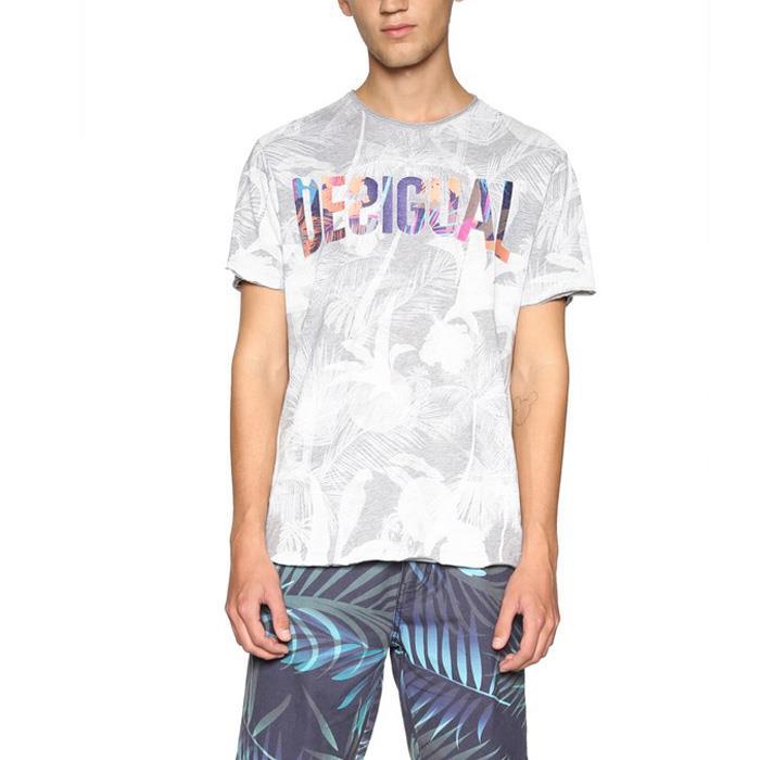 大きいサイズ メンズ DESIGUAL (デシグアル) 半袖ロゴプリントTシャツ 18smtk44