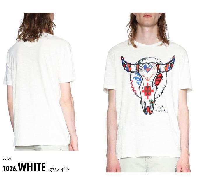 大きいサイズ メンズ DESIGUAL (デシグアル) 半袖プリントTシャツ 18smtk67