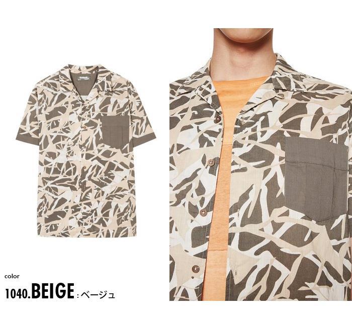 大きいサイズ メンズ DESIGUAL (デシグアル) 総柄プリントシャツ開襟半袖シャツ 18smcw41