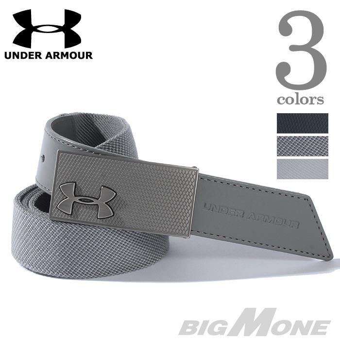 大きいサイズ メンズ UNDER ARMOUR アンダーアーマー ベルト ロゴ デザインベルト USA 直輸入 ua9114