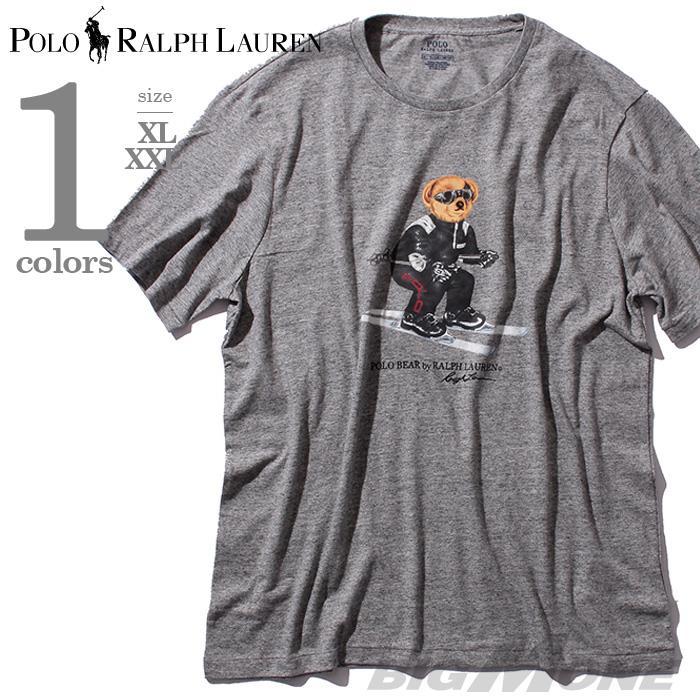 大きいサイズ メンズ POLO RALPH LAUREN ポロ ラルフローレン 半袖 Tシャツ デザイン 半袖Tシャツ グレー XL XXL USA 直輸入 710674429002