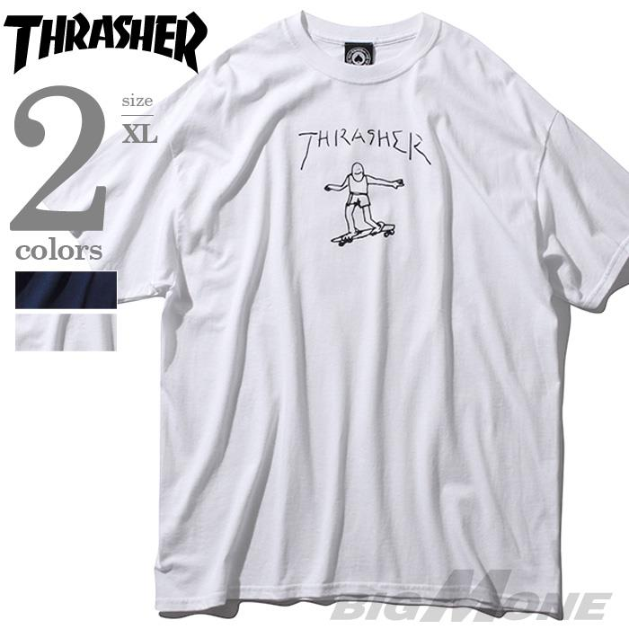 大きいサイズ メンズ THRASHER スラッシャー 半袖Tシャツ 半袖 デザイン Tシャツ USA 直輸入 311009