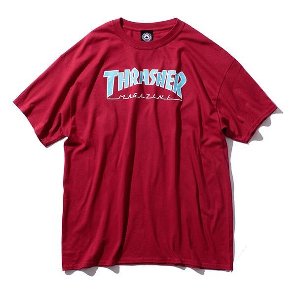 大きいサイズ メンズ THRASHER スラッシャー 半袖Tシャツ 半袖 デザイン Tシャツ USA 直輸入 311172