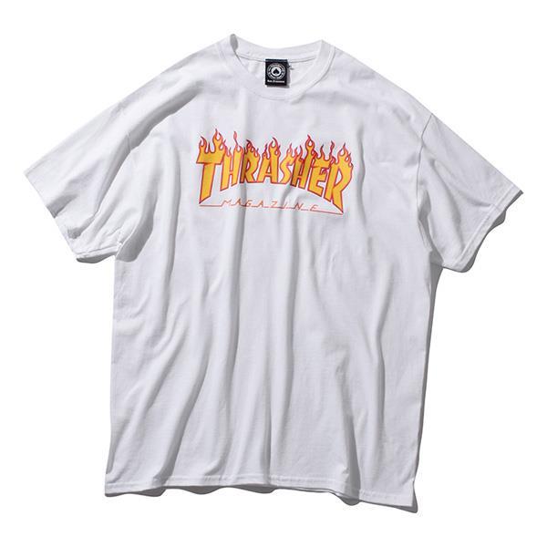 大きいサイズ メンズ THRASHER スラッシャー 半袖Tシャツ 半袖 デザイン Tシャツ USA 直輸入 311019
