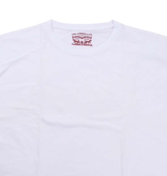 大きいサイズ メンズ Levi's 2Pクルーネック半袖Tシャツ ホワイト 1178-8580-1 2L 3L 4L 5L 6L 8L