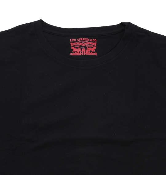 大きいサイズ メンズ Levi's 2Pクルーネック半袖Tシャツ ブラック 1178-8580-2 2L 3L 4L 5L 6L 8L
