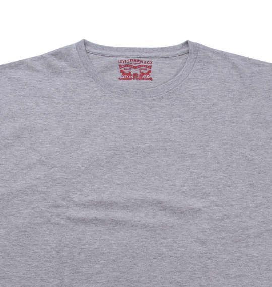 大きいサイズ メンズ Levi's 2Pクルーネック半袖Tシャツ モクグレー 1178-8580-3 2L 3L 4L 5L 6L 8L