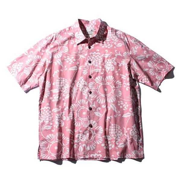 大きいサイズ メンズ KAHALA (カハラ) 半袖アロハシャツ MADE IN HAWAII 3036r5691