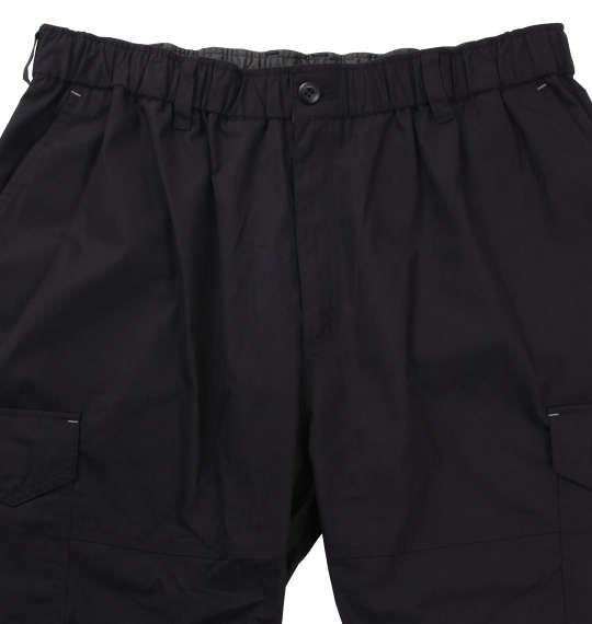 大きいサイズ メンズ H by FIGER ウェザー イージー カーゴパンツ ハーフパンツ ボトムス ズボン パンツ 短パン ブラック 1164-8200-2 3L 4L 5L 6L 7L 8L