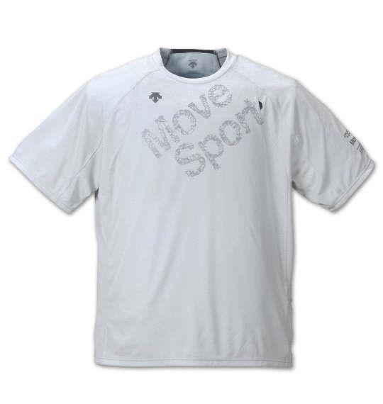 大きいサイズ メンズ DESCENTE エアスルーメッシュ半袖Tシャツ シルバーホワイト 1178-8250-1 3L 4L 5L 6L