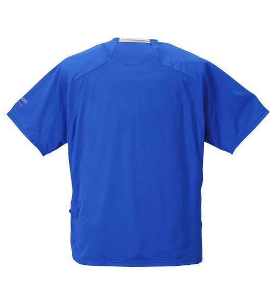 大きいサイズ メンズ DESCENTE エアスルーメッシュ半袖Tシャツ ブルー 1178-8250-3 3L 4L 5L 6L